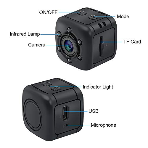 ... Grado Cámara Oculta HD 1080P Cámara para Niñera Oculta con Visión Nocturna y Detección de Movimiento Adecuada para el Hogar/Garaje/Jardines Vigilancia ...