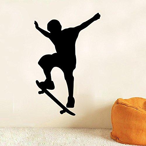ChezMax DIY Removable Wall Decor Waterproof Skateboard Pattern Wall Sticker 23.6