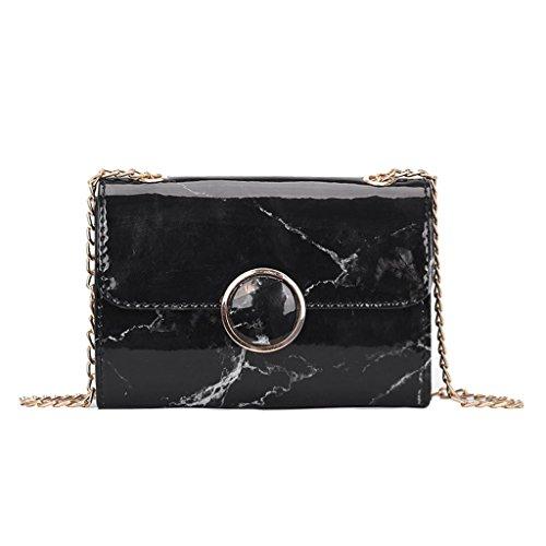 Pattern Women White Handbag Black Shoulder Messenger JAGENIE Mini Fashion Marble Bag Crossbody Chain qPwn5t