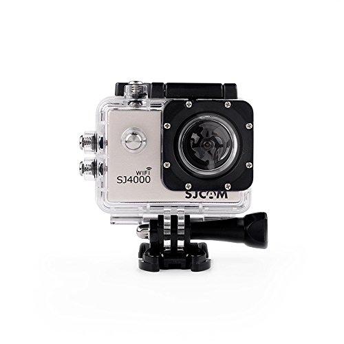 SJCAM SJ4000 WiFi Action Camera - 12MP, 1080P, 2 Inch Screen, Waterproof (Silver)