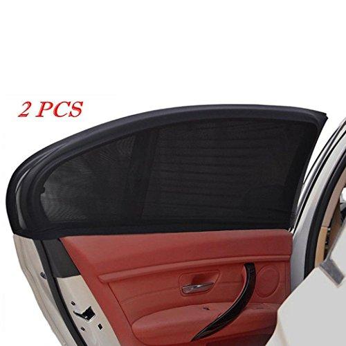 2Pcs Car Rear Window Sun Shade Mesh Rear Side Window Kids Baby Max UV Protection Block Mesh