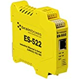 Brainboxes Device server - 2 ports - 10Mb LAN, 100Mb LAN, RS-232, RS-422, RS-485 (ES-522)