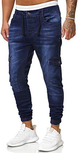 ファッションメンズカジュアルパーソナリティスリムフィットデニムジーンズパンツ
