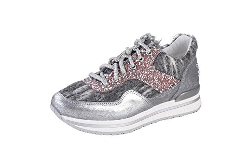 Textile Sneaker Silver 36 2Star Shoes Women's Gold RBIqXR