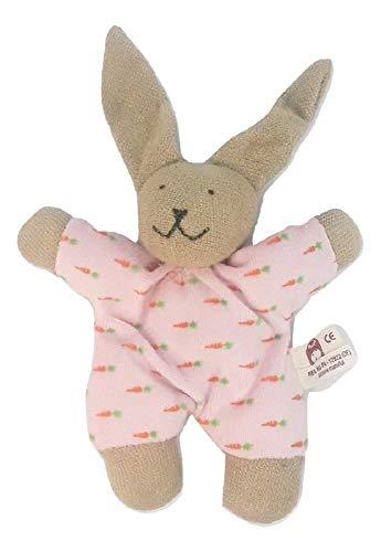 Nanchen Plush Baby Bunny Rabbit Rattle Organic Soft Toy Doll