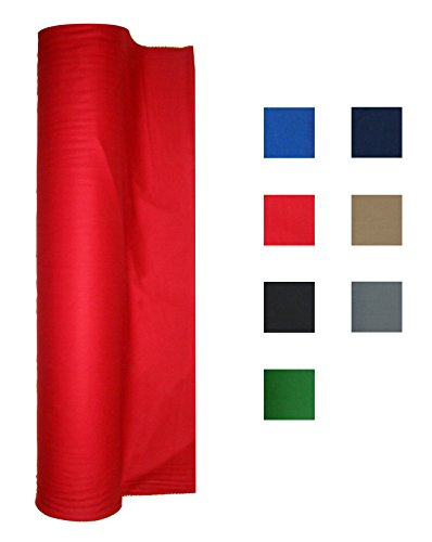 Burgundy Billiards Light (Performance Grade Pool - Billiard Cloth - For a 7 Foot Table Red)