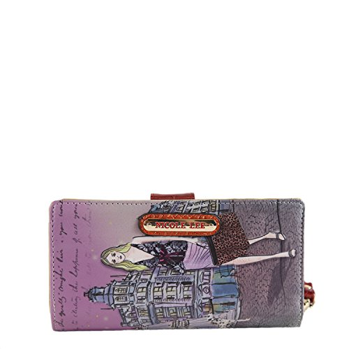 Gitana Vintage Print Wristlet Wallet (Clock Tower) (Nicole Lee Purses Paris)