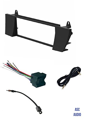 asc car stereo install dash kit, wire harness, and antenna adapter combo to  install