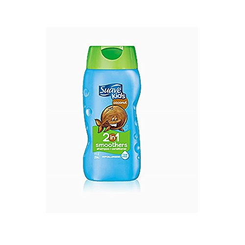 Suave Kids 2-in-1 Shampoo & Conditioner, Cowabunga Coconut, 12 oz (Suave Kids Hair Smoothers)
