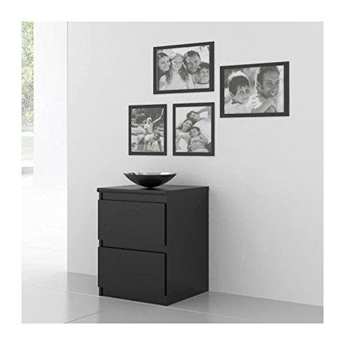FINLANDEK Chevet NATTI Contemporain Noir L 42 cm FINLANDEK CHAMBRE