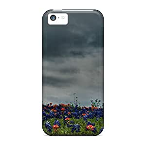 Fashionable VDi53299eATo Iphone 5c Cases Covers For Field Of Bluebonnets Indian Paintbrush Protective Cases