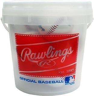 Rawlings 8 Pack Bucket of Balls BUCKOLB3