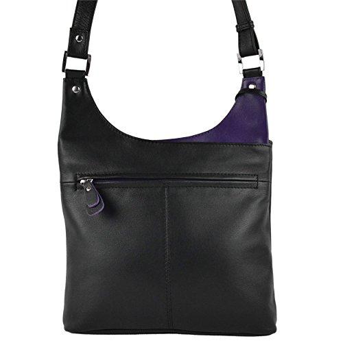 Mala Leather - Bolso cruzados para mujer negro - negro