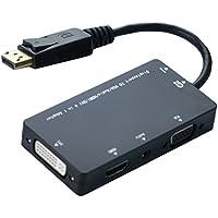 Seadream Mini Display Port (Thunderbolt Port Compatible) to VGA/HDMI/DVI/Audio w/ Micro USB Port 4 in 1 Adapter