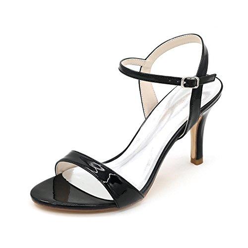 L@YC Zapatos De Boda Para Mujer / Sandalias / Fino Con Toalla abierta / Fiesta Gran CóDigo Y MáS Colores Disponibles Black