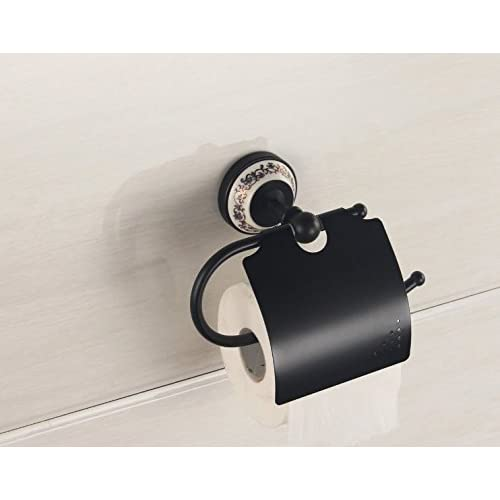 On Sale Auswind Vintage Solid Brass Brushed Toilet Paper Holder With