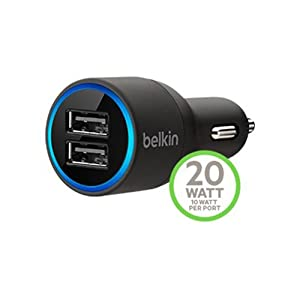 Belkin F8J071bt04-BLK Dual USB Car Charger Black (F8J071bt04-BLK) by Belkin
