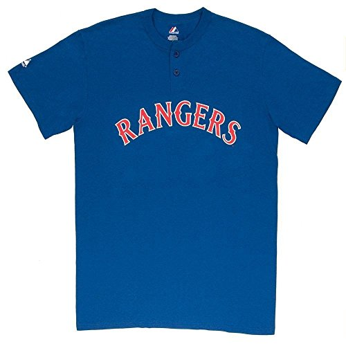 MLB Texas Rangers Two Button Youth Jersey Shirt Large