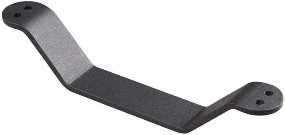 WANLIAN Antiker fester schwerer Gusseisen-T/ürgriff schlo/ß ein der Scheunentorgriff-Satz-schwarze Stahlschrauben schiebt