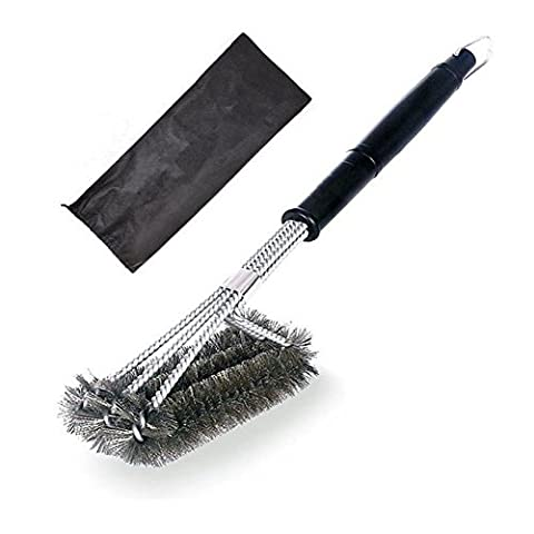 12inch BBQ Grill Brush , CENDA Durable and Effective Barbecue Grill Brush Bristles, Made of Stainless Steel Woven Wire As a Perfect Gift for All Barbecue - Self Cleaning Stainless Steel Grill