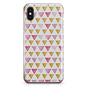 iPhone X Case Triangle Flags Pattern Tough Modern Wrap Around iPhone 10 Case