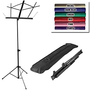 On Stage SM7122BB Folding Music Stand with Carrying Bag