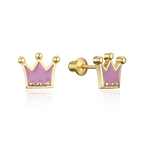 Plated Princess Screwback Earrings Sterling product image