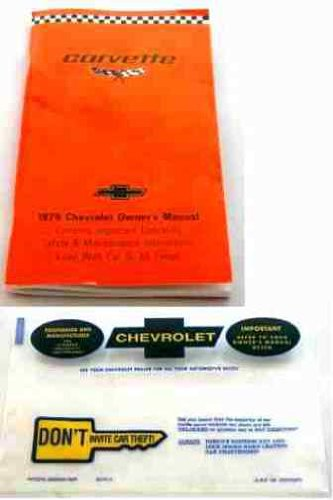 Stingray Convertible (1979 CHEVY CORVETTE FACTORY OWNERS OPERATING & INSTRUCTION MANUAL - GUIDE with PROTECTIVE ENVELOPE. INCLUDES: Stingray Convertible, Corvette Stingray Fastback Coupe, Sport Coupe. 79 CHEVROLET)