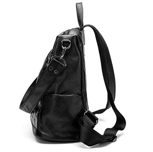 Frauen-echtes Leder-Rucksack-wasserdichte Diebstahl-Umhängetasche