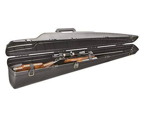 Leather Transit Case - Plano Vertical Rifle Case - Single Scoped