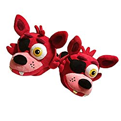 Five Nights At Freddy S Foxy Character Slippers With Memory Foam Insoles Large Red