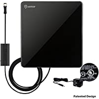 ANTOP Amplified Digital Indoor TV Antenna 50 Miles Range 1080P 360 Degree/Omni-directional receptions with 10ft Cable