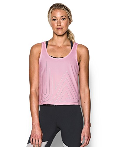 Under Armour Women's UA Fly-By 2.0 Graphic Midi Medium PETAL PINK