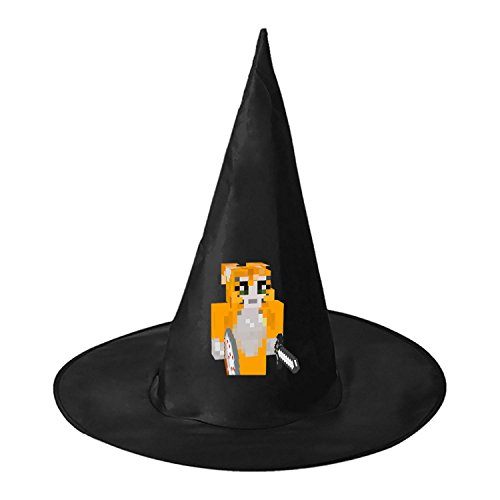 RRUH Halloween Black Witch Hat-Stampy Cat (Stampy Cat Costume For Halloween)
