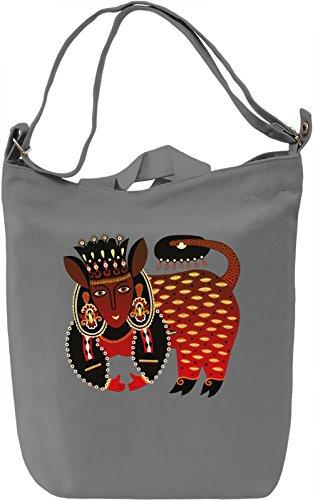 Maya Creature Borsa Giornaliera Canvas Canvas Day Bag| 100% Premium Cotton Canvas| DTG Printing|