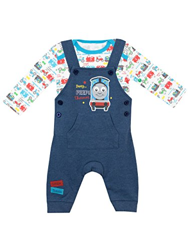 Thomas & Friends Baby Boys' Thomas The Tank Engine Overalls Set Size 6-9 M (Outfit Thomas Train)