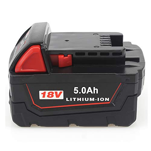 TenMore M18 5.0Ah Replacement for Milwaukee 18v Battery for 48-11-1815 48-11-1828 48-11-1830 48-11-1890 5000mah Cordless Tool Battery