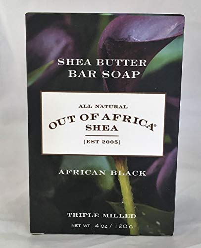 Out Of Africa African Black Shea Butter Bar Soap, 3.75-Ounce