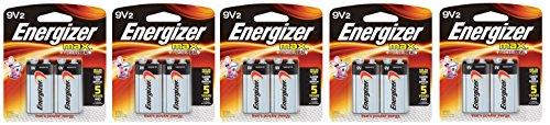 Energizer Max SMKLdg Alkaline 9 Volt, 2 Count, 5 Pack by Energizer