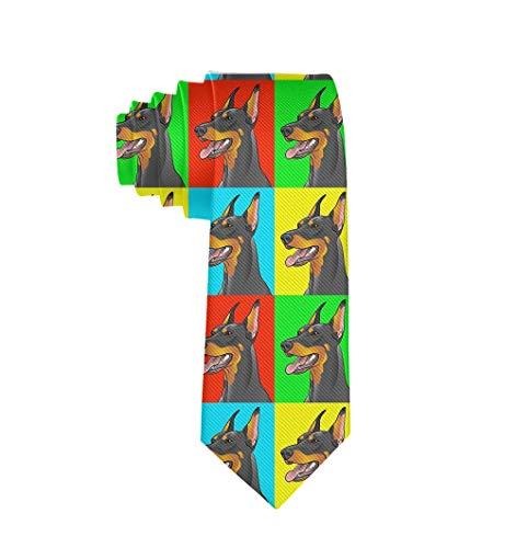 Doberman Pinscher Dogs Necktie for Men, Casual Gentleman Tie Necktie, Suit Accessories Ties ()