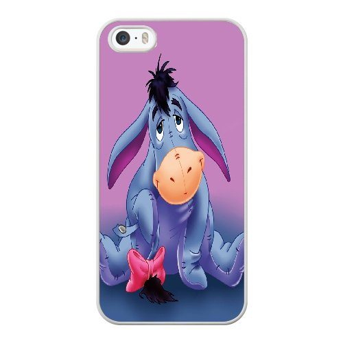 Coque,Coque iphone 5 5S SE Case Coque, Winnie The Pooh Eeyore Cover For Coque iphone 5 5S SE Cell Phone Case Cover blanc