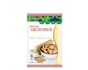 Kay's Naturals Non-Gluten Kruncheeze, White Cheddar Cheese, 1.2-Ounce Bags (Pack of 12)