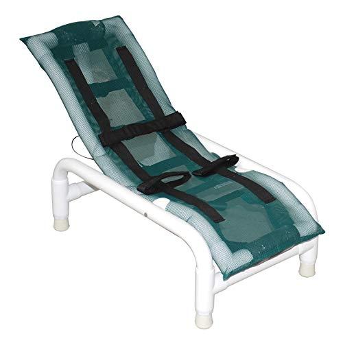 Reclining Bath Chair - MJM International 191-S-HB Reclining Bath Chair Small with Head Bolster, 100 oz Capacity, 22