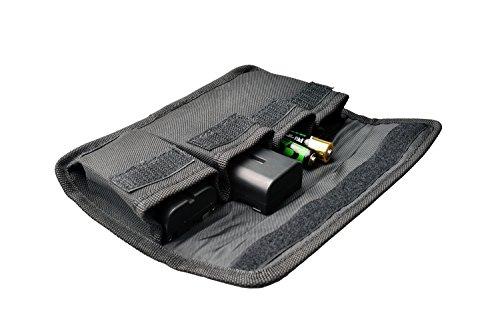 Lightdow Photo DSLR Battery Pouch 4-Slot Battery Holder - Black