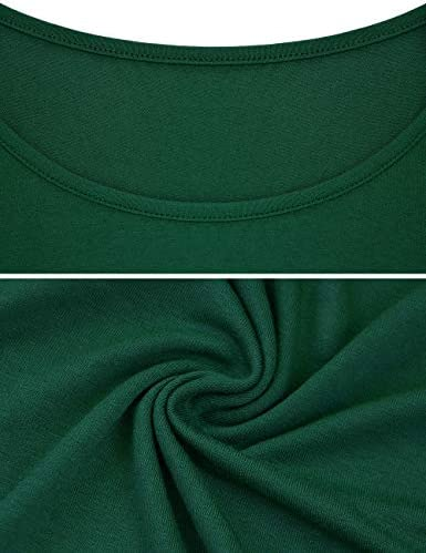 Odosalii damski sweter z długim rękawem, okrągły dekolt, koronka, tunika, solidny, elegancki top: Odzież