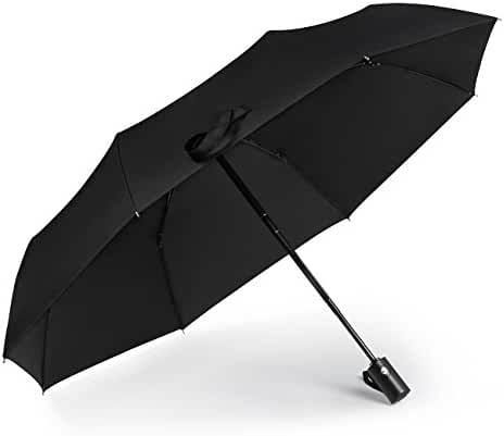 SHINE HAI Windproof Travel Umbrella, Auto Open/Close for One Handed Operation, 8 Ribs Durable Construction, Compact Umbrella for Rain/Snow