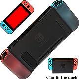 Dockable Case for Nintendo Switch - YOOWA Soft TPU Grip Shock-Absorption and Anti-Scratch Dockable Protective Cover Case for Nintendo Switch - Black