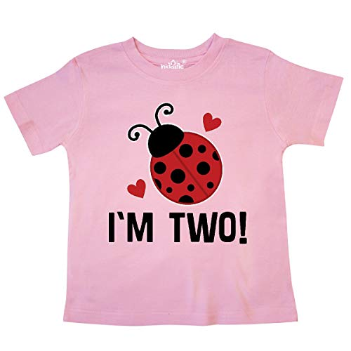 - inktastic - Ladybug 2nd Birthday Cute 2 Year Old Toddler T-Shirt 4T Pink 33749