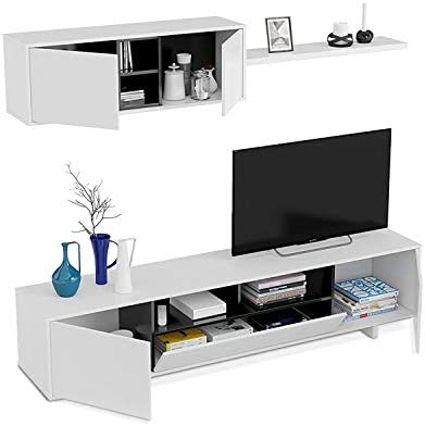 Habitdesign 0T6682BO - Mueble de Comedor Moderno, Color Blanco ...