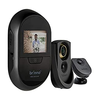 Brinno Duo SHC1000W Safe Smart Home Security Concealed Peephole Camera 12mm Size Remote Access DIY Install Data Privacy